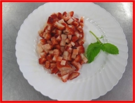STRAWBERRIES DICED 1/4""