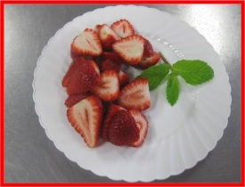 STRAWBERRIES HALVED