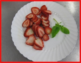 STRAWBERRIES SLICED 1/4""